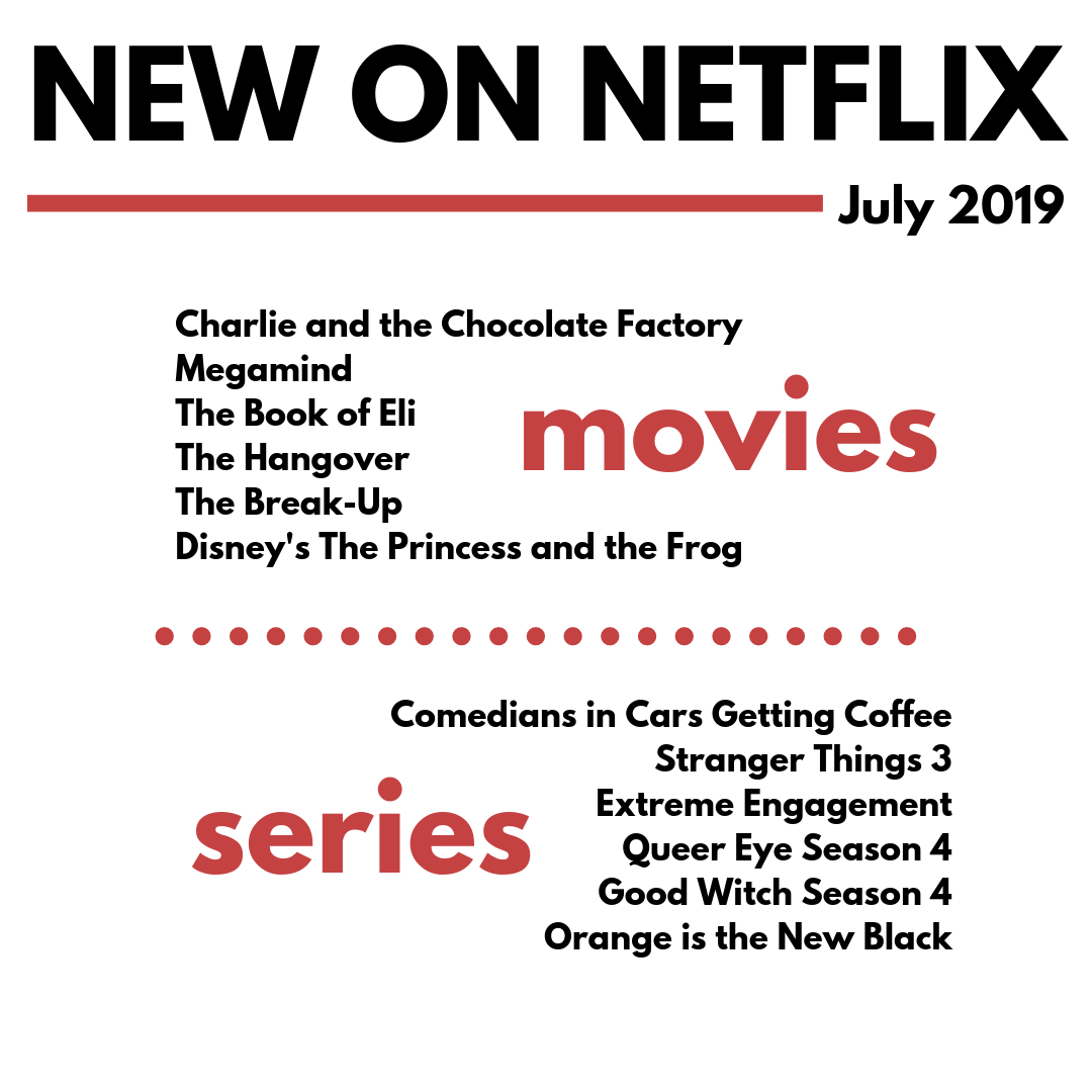 Full List of Everything Coming and Leaving Netflix-July 2019