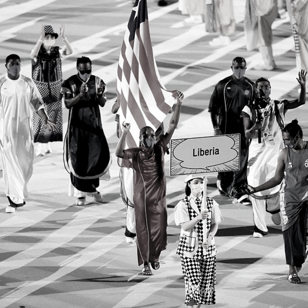 Liberia takes the Olympics in style